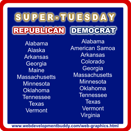 Super Tuesday Locations