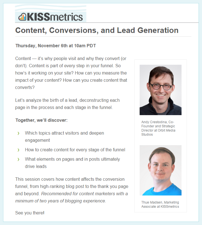 Content, Conversions, and Lead Generation Webinar