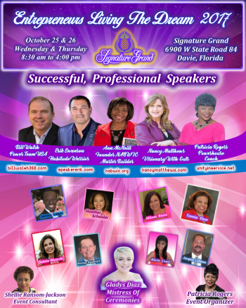 Fabulous Speakers!  Entrepreneurs Living The Dream 2017