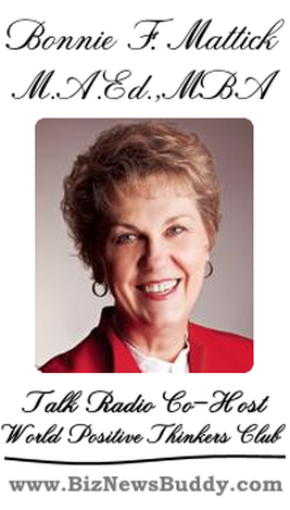 World Positive Thinkers Club Talk Radio Co-Host Bonnie Mattick - Author - Speaker
