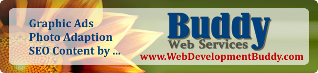 Graphics, Social Media Ads and SEO Content by Buddy Web Services - www.webdevelopmentbuddy.com