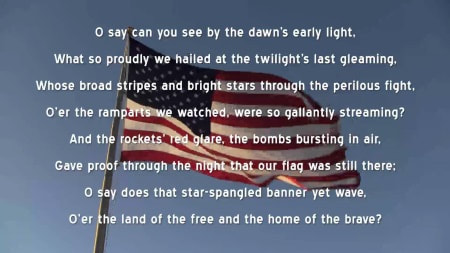 Star Spangled Banner with Flag.